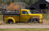 Old truck and a barn Montana