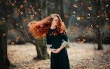 Windy Fall Leaves