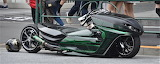 Slick green riding machine