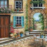 Tuscan Courtyard, Marilyn Dunlap