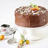 Orange almond chocolate cake