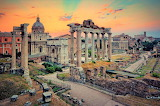 Sunrise at Forum Romanum.