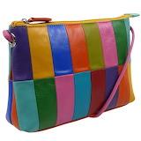 Colourful leather handbag