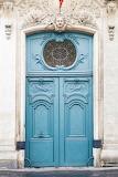 Blue Door in Paris