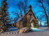 Winter country church