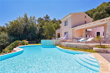 Luxury pale pink house, pool and garden in Corfu