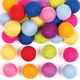 Coloured-felt-balls