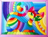 Colours-colorful-cat-mosaic