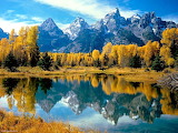 Mountain Reflections in Autumn