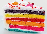 Colorful cake slice