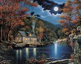 Cabin By The Lake-John Zaccheo