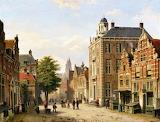View of a Dutch Street in Summer-Willem Koekkoek
