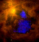 The Orion nebula, ESA, XMM-Newton and NASA Spitzer