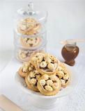 Salted caramel popcorn cookies