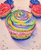 #Colorful Cupcakes by Chloe Medlarf