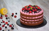 Food - Chocolate Cake with Summer Berries