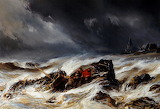 The Wreck Eugene by Louis Gabriel Isabey