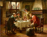 Merry Company in a Dutch Interior~ Fritz Wagner