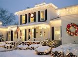 Greek house in winter