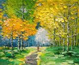 Palette Knife Landscape Oil Painting by Enxu Zhou