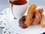^ Churros and chocolate