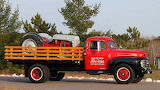 1949 Ford F6 Flatbed w/ 1948 8N Tractor