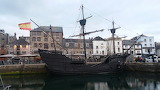 The Nao Victoria visiting Sutton Harbour, Plymouth