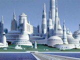 cityscapes futuristic art science fiction