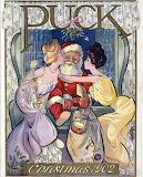 Santa-kiss-vintage-art