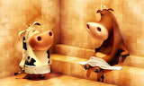 Cows In A Sauna