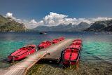 Sankt Gilgen Lake Boats and Mountains Austria