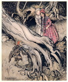 Arthur Rackham, Grimm, Snow White Rose Red