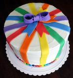 Rainbow Ribbon Cake