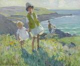 Dorothea Sharp, On a Cornish cliff