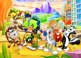 Looney Tunes Pose on Set