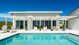 Turks and Caicos Islands, Bahamas, beach front villa and pool
