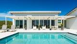 Turks and Caicos Islands, Bahamas, beach front villa and pool