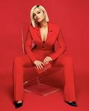 Model In Red Pants