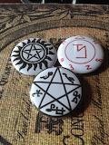 Supernatural sigils buttons