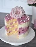 Blackberry lime torte