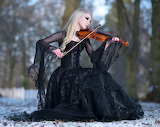 Gothic Girl With Violin