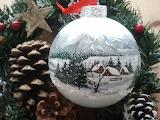 beautiful handpainted xmas ornament