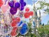 Magic, kingdom, Disney, balloons, castle