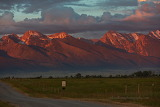 Sunset on the Mission Mountains Montana
