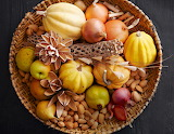 ^ Autumn harvest in a basket