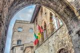 Medieval palace, architecture, San Gimignano, Tuscany