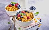 healthy food-muesli & fruits