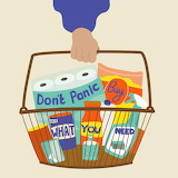 "Oher tumblr lustik ""Don't Panic! Buy what you need!"" ""Erin Anike"