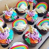 Rainbow cupcakes by Vickie Liu