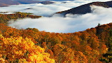 Fall Colors & Clouds Seen on the Skyline Drive Virginia USA